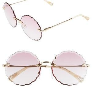 NWT Chloe Scalloped Pink Sunglasses